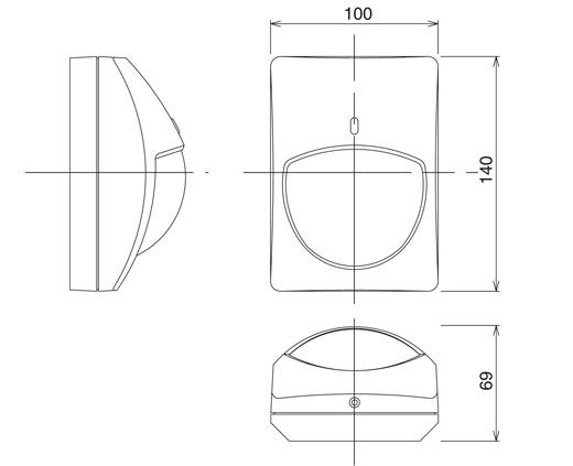 Wymiary czujki RX-702